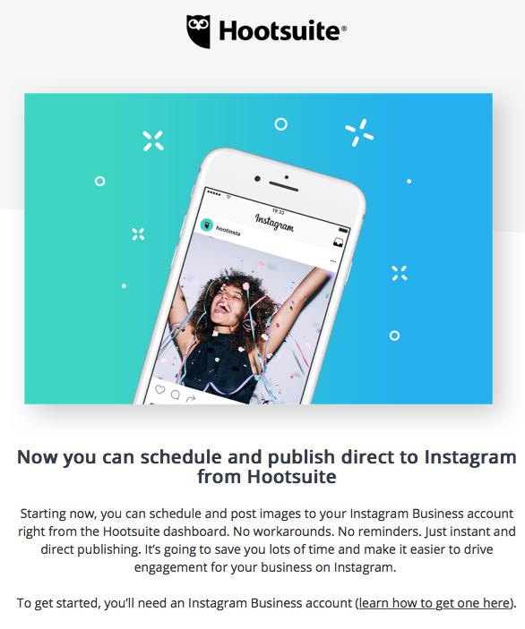 publicar en Instagram desde Hootsuite