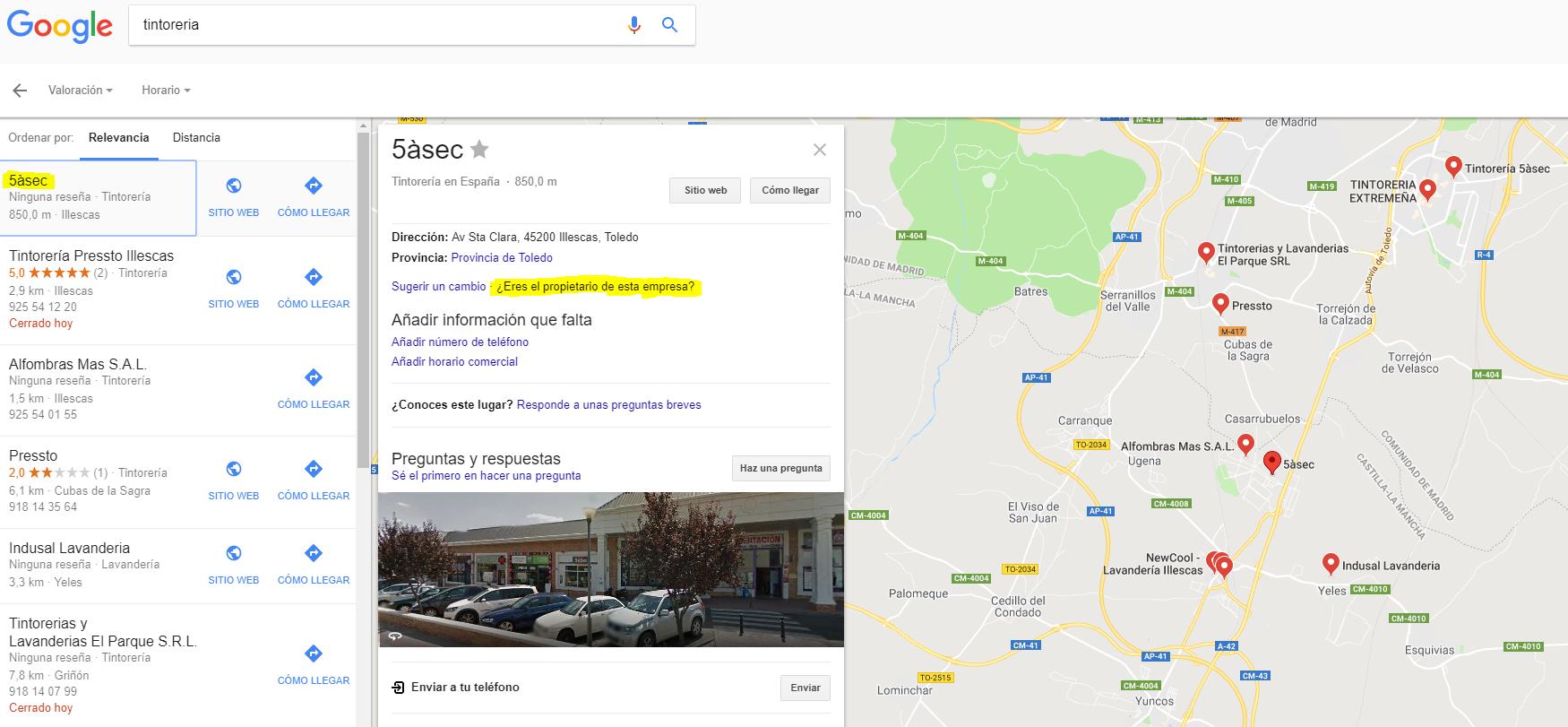 Verificar una empresa en Google Maps
