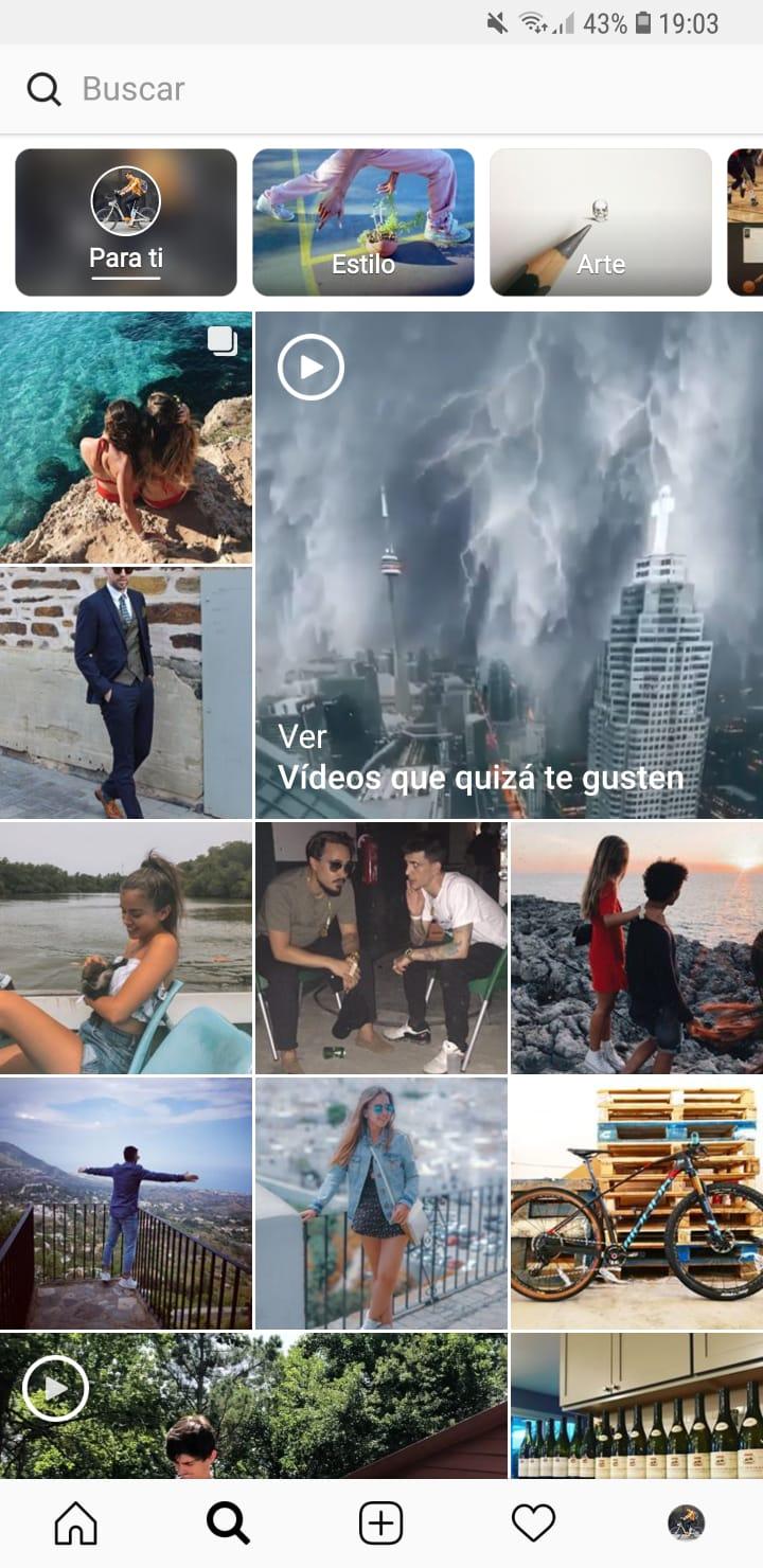 Busquedas en Instagram