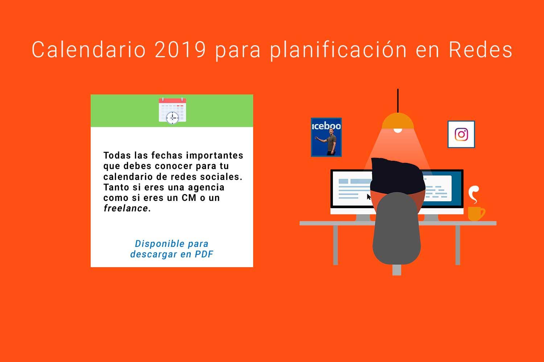 Calendario 2019 para redes sociales [+PDF descargable]