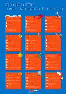 Calendario para redes sociales 2020