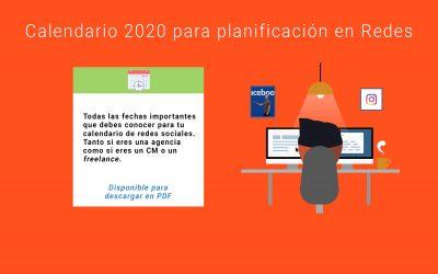 📅Festivos+Calendario para redes sociales 2020 [PDF+Google CAL]