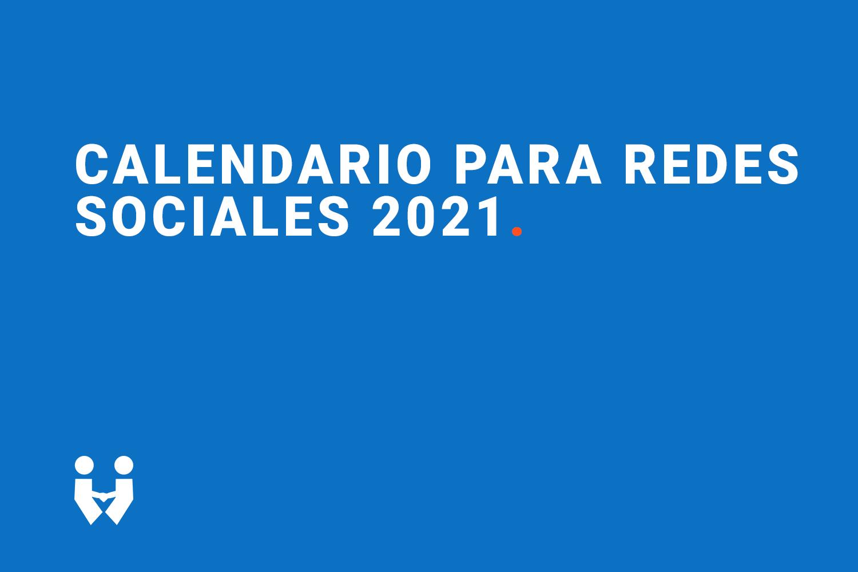 Calendario RRSS 2021